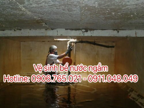vệ sinh bể nước ngầm