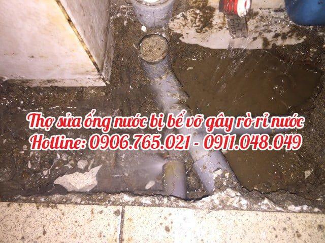 thợ sửa ống nước bể vỡ